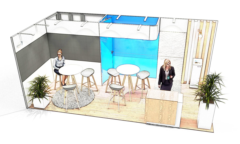 croquis stand solutio 18m carré