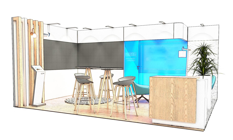 croquis stand solutio 20m carré