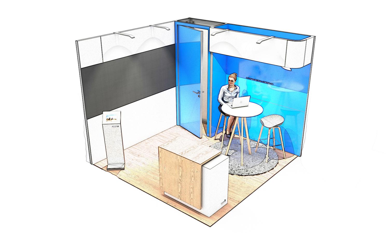 croquis stand solutio 9m carré